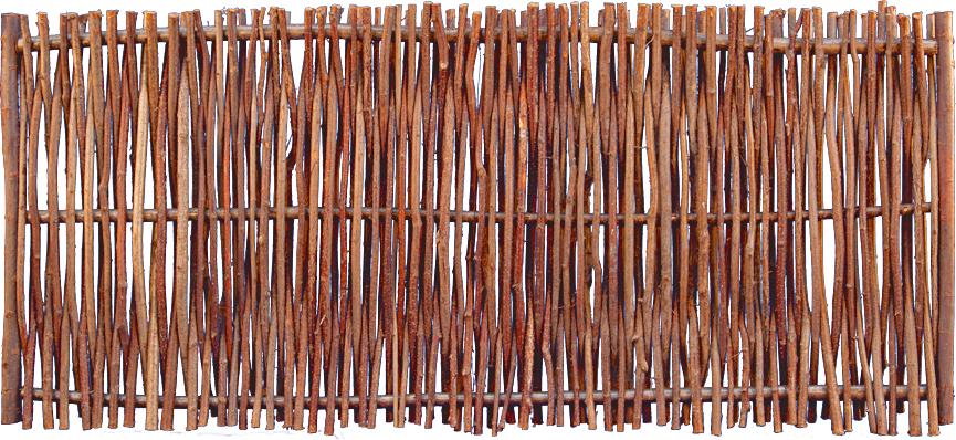 PEDRO Haselnusszaun 180 x 80 cm mit seitlichem Rahmen