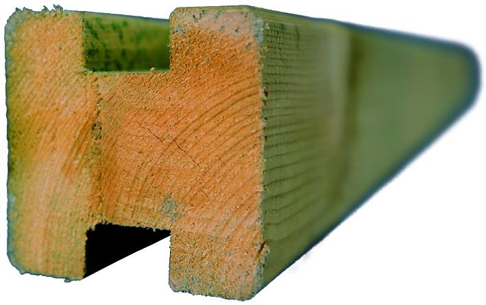 TRELLEBORG Pfosten 9 x 9 x 210 cm für Selbstbau-System von T&J, kdi