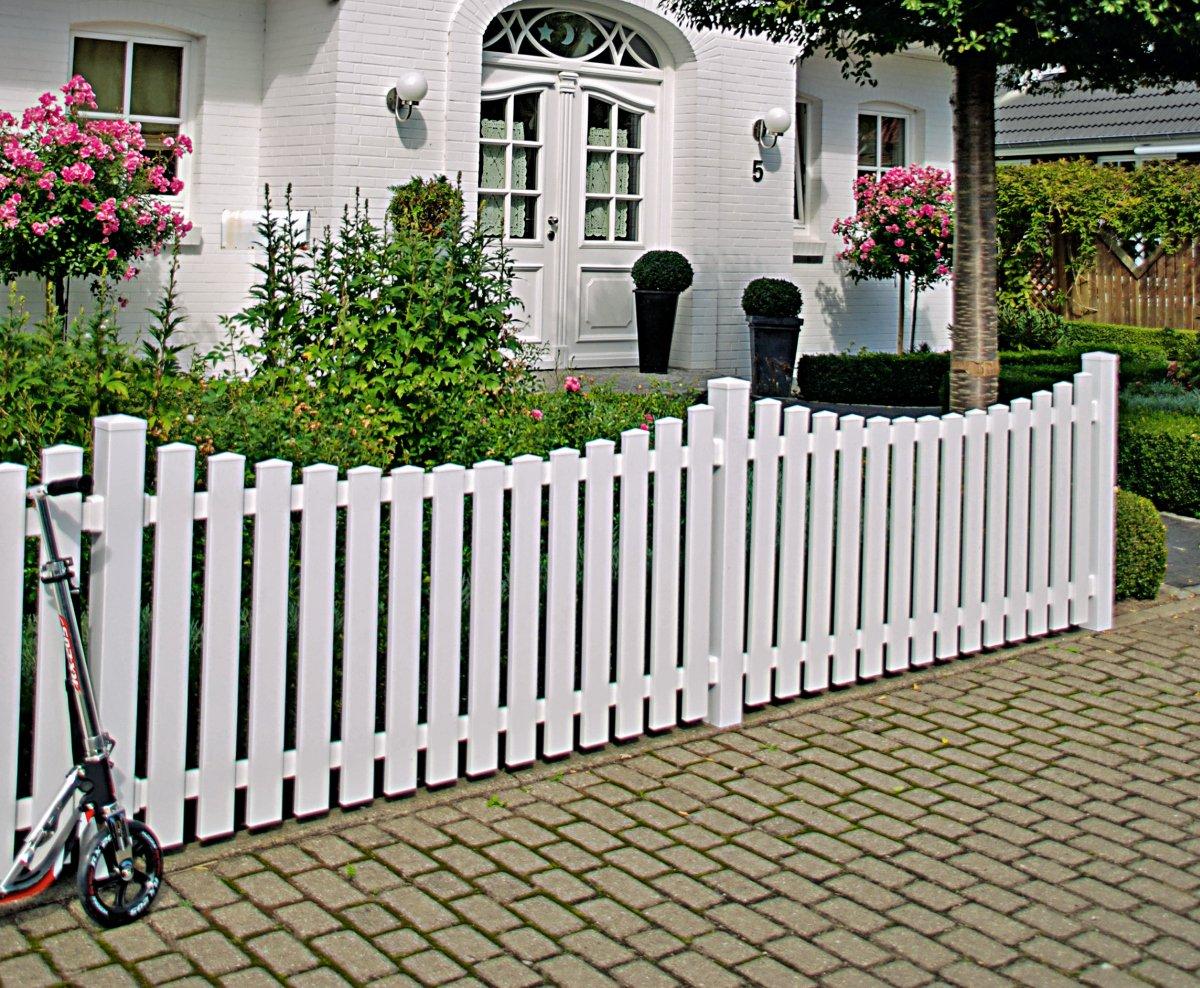 LIGHTLINE Bogen-Vorgartenzaun Kunststoff weiß, Breite 180 cm