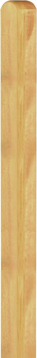 Holzpfosten Kiefer/Fichte kdi grün, Kopf gerundet