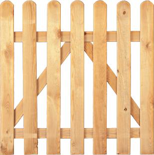 HEIKO Gartenzaun-Einzeltor gerade Kiefer/Fichte kdi, Breite 100 cm