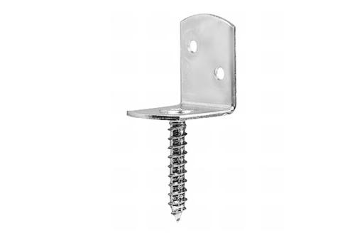 Winkelbeschlag Edelstahl V2A (ohne Schrauben)