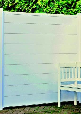 LIGHTLINE Steckzaun-Komplettbausatz für 1 Zaunfeld, Kunststoff weiß