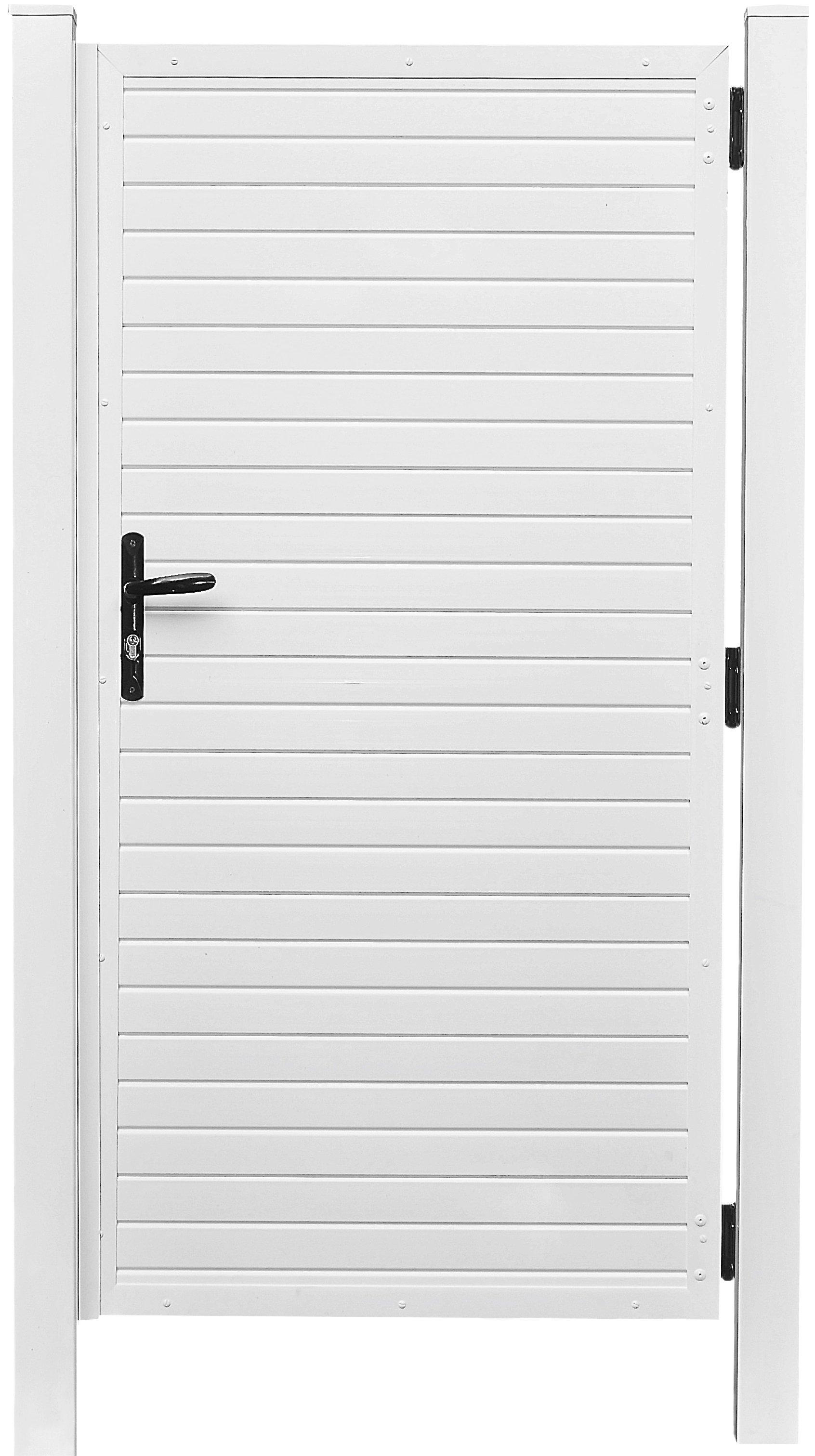 LIGHTLINE Sichtschutz Kunststofftür weiß 100 x 180 cm
