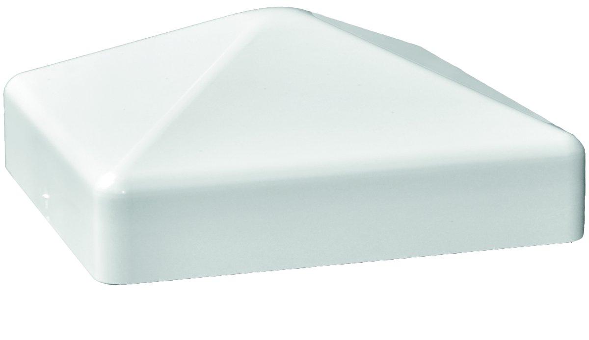 TRENDLINE Kunststoff-Pfostenkappe weiß, Pyramide