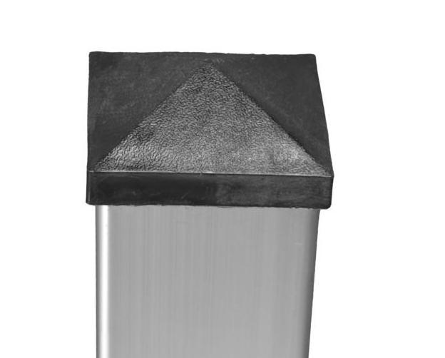 Pfostenkappe 74x74 mm Kunststoff Pyramide für Alu-Pfosten zu DALIAN/JINAN