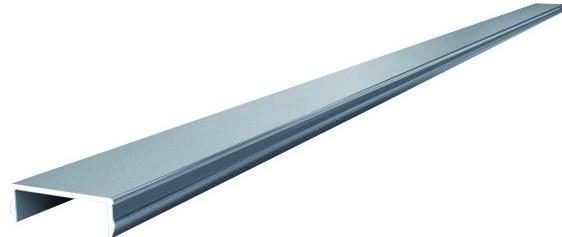 Alu-Abschlussprofil für SHANGHAI / KANTON WPC-Zaun, 180 cm silber
