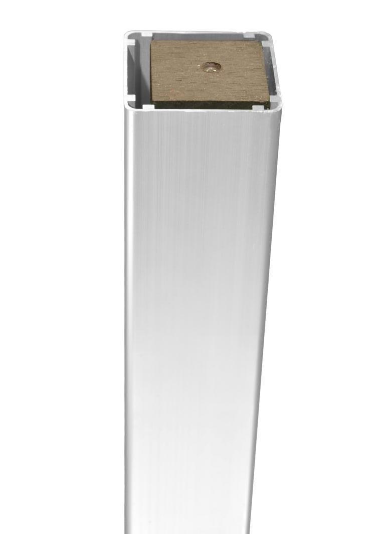 Alu-Pfosten 7 x 7 cm mit Holzkern für Zaunserie DALIAN / JINAN