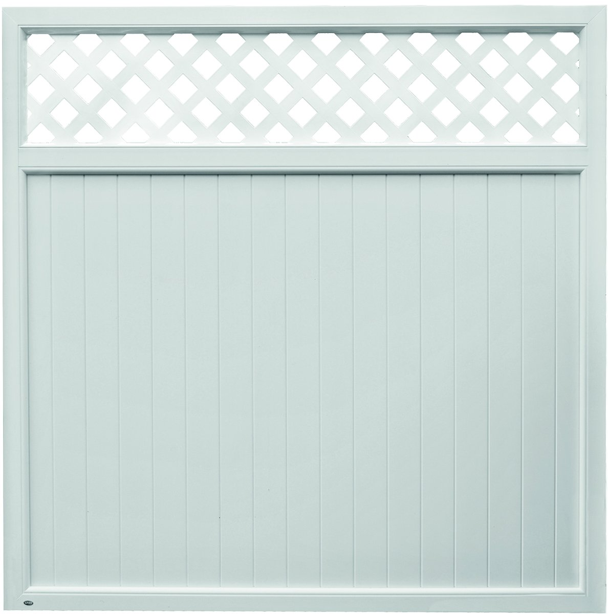TRENDLINE Kunststoff-Sichtschutz mit Rankgitter 180x180 cm weiß