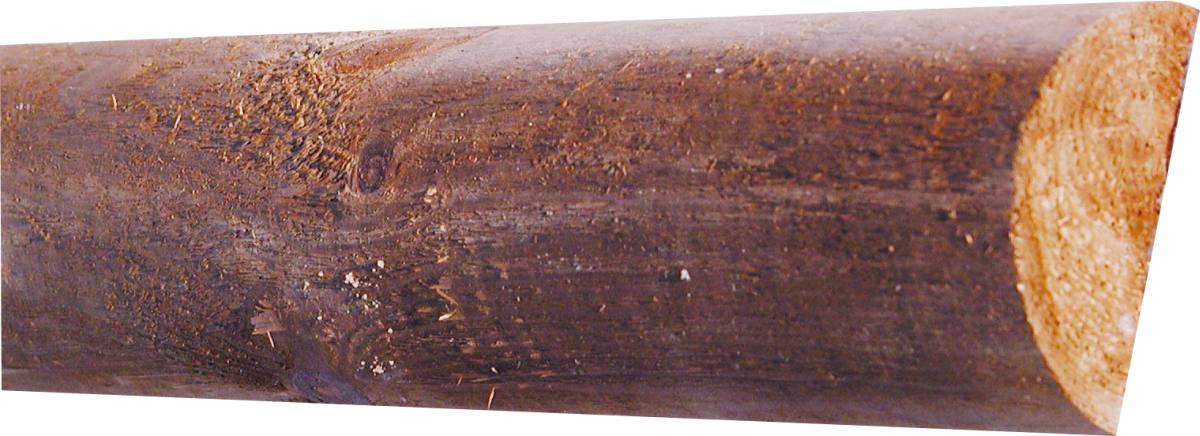T&J Jägerzaun-Querriegel braun, Ø 7 x L 250 cm halbrund