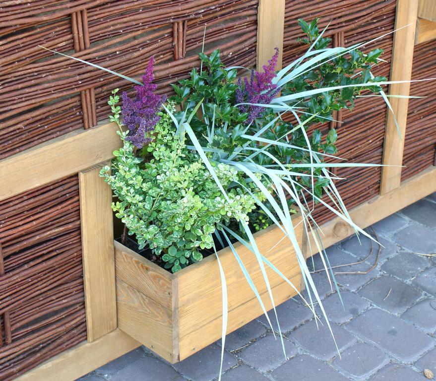Pflanzkasten für Weidengeflecht-Zaun Labo-3D von T&J