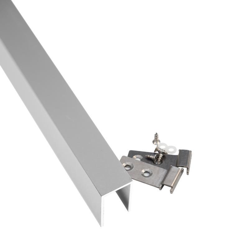 Abdeckleiste für 2 cm starken Sichtschutz-Steckzaun, Aluminium U-Profil