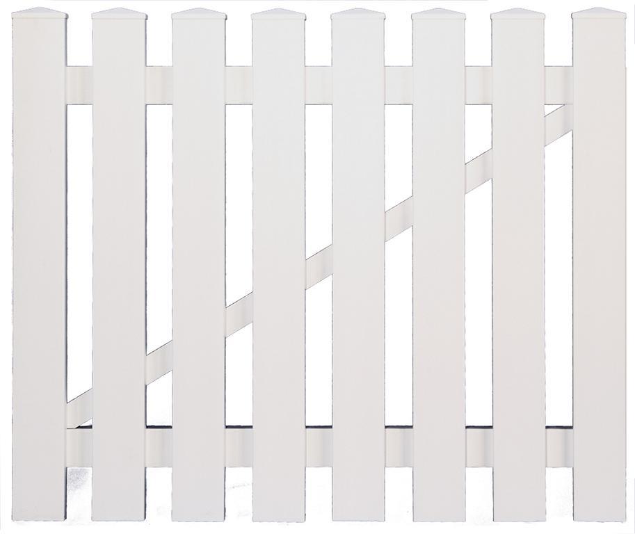 LIGHTLINE Kunststoff-Vorgartentor weiß, B 100 x H 80 cm