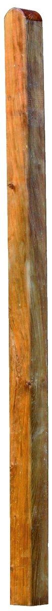 Holzpfosten kdi braun für Weiden-/Haselnusszäune, Kopf gerundet